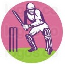 STRIKERS RUSSIA MOSCOW CRICKET LOGO RAMESH